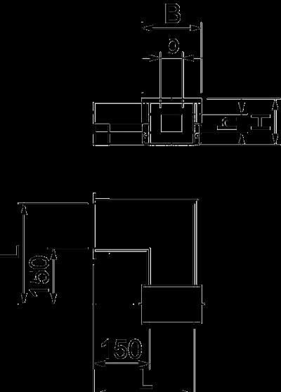 Схема Угловая секция 90° для кабельного канала с внутренней высотой 50 мм — арт.: 7215603