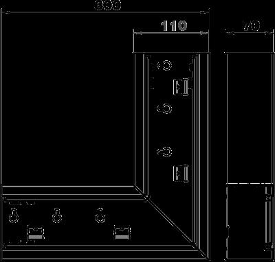 Схема Плоский угол для кабельного короба высотой 70 мм — арт.: 6277020