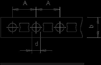 Схема Перфорированная монтажная лента — арт.: 1470124