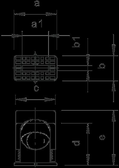 Схема Нажимная крепежная скоба, одинарная — арт.: 2101017