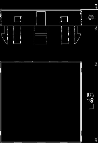 Схема Заглушка, ширина 1 модуль — арт.: 6117406