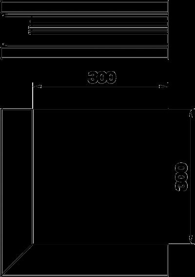 Схема Внешний угол для кабельного короба высотой 70 мм — арт.: 6279313