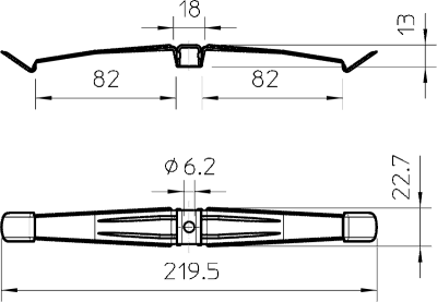 Схема Кабельный зажим для 16 проводов — арт.: 2204000