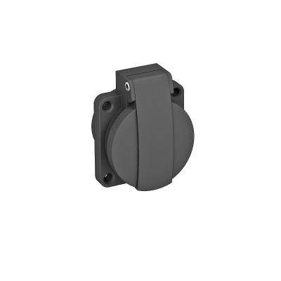 Навесная розетка 0° с откидной крышкой, с защитным контактом, одинарная — арт.: 6109873