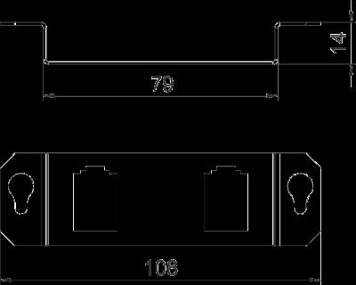 Схема Суппорт для 2х телекоммуникационных модулей типа B — арт.: 7407842