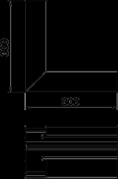 Схема Внутренний угол для кабельного короба высотой 70 мм — арт.: 6279343