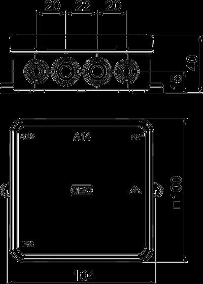 Схема Распределительная коробка А14 — арт.: 2000378