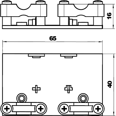 Схема Держатель гибкого кабельного канала с функцией разгрузки кабеля от натяжения — арт.: 6154961