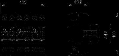 Схема Комбинированный разрядник 3-полюсный — арт.: 5096877