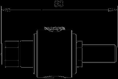 Схема Коаксиальное устройство защиты для разъема F: штекер/розетка — арт.: 5093275
