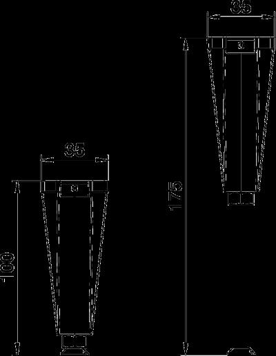 Схема Регулируемая опора крышки, для каналов высотой 100 — 175 мм — арт.: 7424844