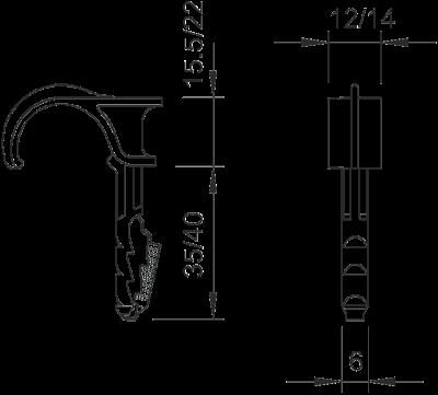 Схема Одинарный нажимной фиксатор — арт.: 2197804
