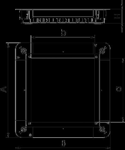Схема Монтажное основание UGD250-3 с крышкой для лючка GES9/55 — арт.: 7410060