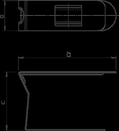 Схема Зажим для кабельного короба шириной 100 мм — арт.: 6249884