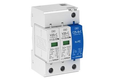Разрядник для защиты от перенапряжений 2-полюсный + NPE — арт.: 5094653