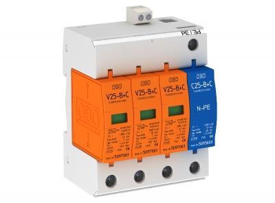 Комбинированный разрядник 3-полюсный + NPE, с дистанционной сигнализацией — арт.: 5094526