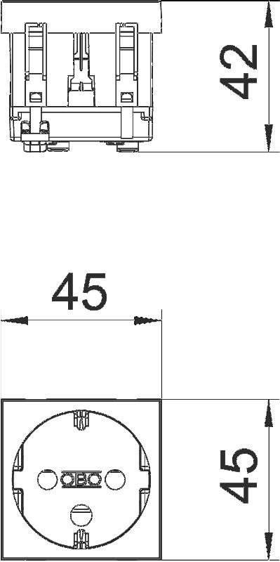 Схема Розетка 0° с защитным контактом, с кодом, одинарная — арт.: 6120292