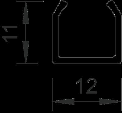 Схема Мини-канал на клейкой основе M11 — арт.: 6150101