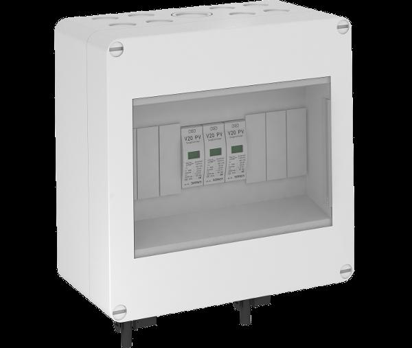 Системное решение для защиты фотогальванических установок со штекером MC, в корпусе, с разрядниками типа 2, 600 В постоянного тока — арт.: 5088670