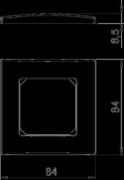 Схема Рамка AR50 одинарная — арт.: 6119392