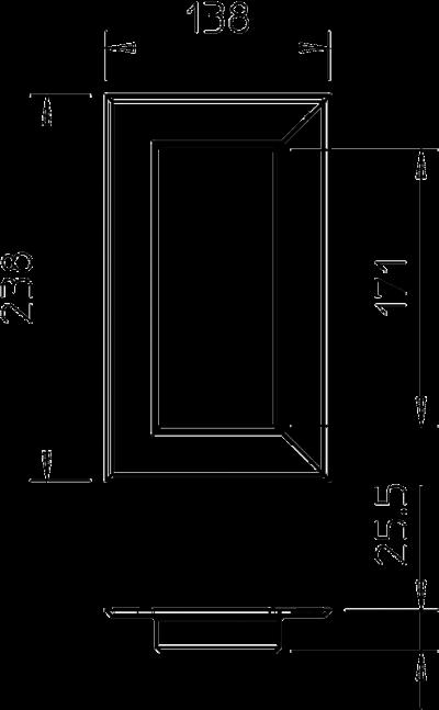 Схема Настенная торцевая заглушка из ПВХ, закрытая, для кабельных коробов 70170 — арт.: 6274870