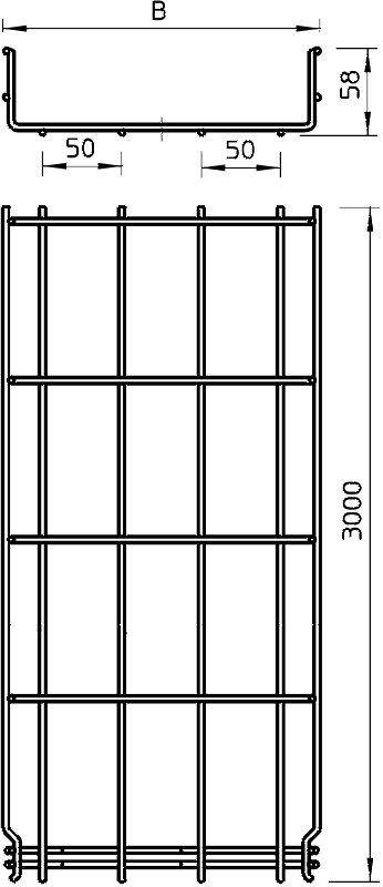 Схема Проволочный лоток GR-Magic® — арт.: 6001415