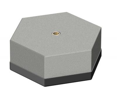 Бетонное основание без рамки, 6,9 кг, с внутренней резьбой — арт.: 5402891
