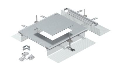 Монтажная секция с крышкой для лючка GES9, высота 40 — 140 мм — арт.: 7424324