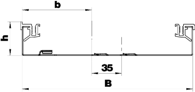 Схема Напольный кабельный канал, высота 40 мм — арт.: 7404700