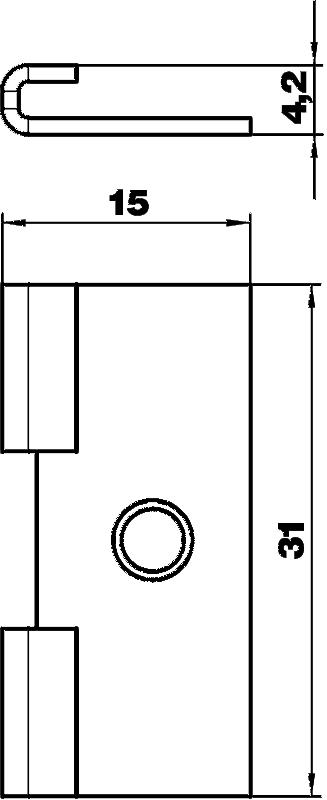 Схема Крепежная скоба для гибкого кабельного канала — арт.: 6154968