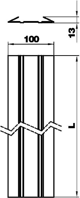 Схема Напольная рейка для гибкого кабельного канала — арт.: 6154980