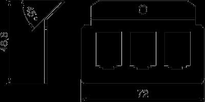 Схема Суппорт для 3х телекоммуникационных модулей типа B — арт.: 7407824