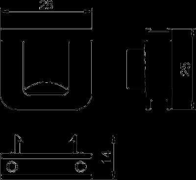 Схема Фиксатор для разгрузки кабеля от натяжения — арт.: 6288790