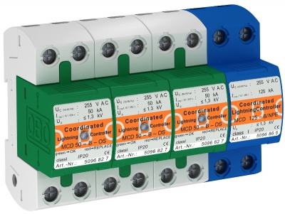 Комбинированный разрядник 3-полюсный + NPE, с индикацией функций — арт.: 5096836