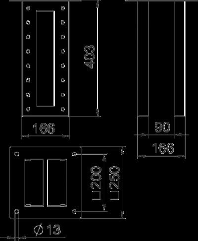 Схема Потолочное крепление для промышленной электромонтажной колонны — арт.: 6290436