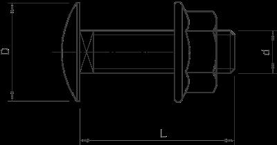 Схема Болт с полукруглой плоской головкой — арт.: 6406122
