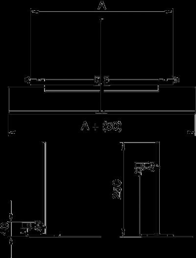 Схема Торцевая заглушка кабельного канала, высота 40 — 240 мм — арт.: 7424300