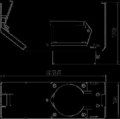 Схема Монтажная рамка для установки силовой розетки CEE, системная длина 208 мм, с розеткой — арт.: 7407667