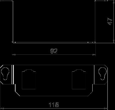 Схема Суппорт для 2х телекоммуникационных модулей типа B — арт.: 7407595