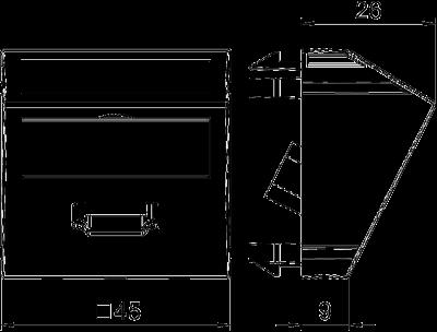 Схема Мультимедийная рамка с разъемом HDMI, ширина 1 модуль, с наклонным выводом, с соединительным кабелем — арт.: 6104838
