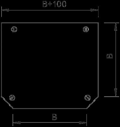 Схема Крышка Т-образной секции 050-300 мм — арт.: 7128215