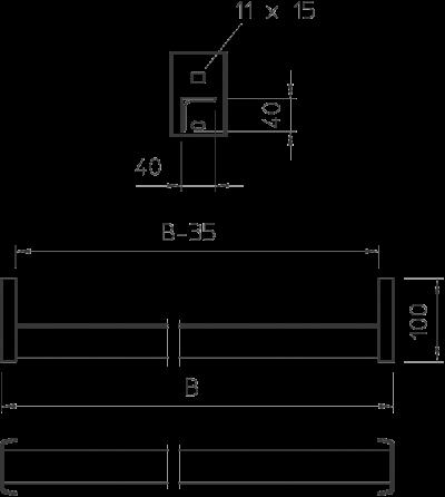 Схема Перекладина WSK 40 — арт.: 6008046