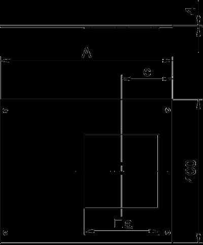 Схема Крышка с отверстием для лючка GES9, 400 мм — арт.: 7425102