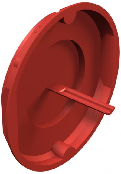 Красная сигнальная крышка 70 мм — арт.: 2003321