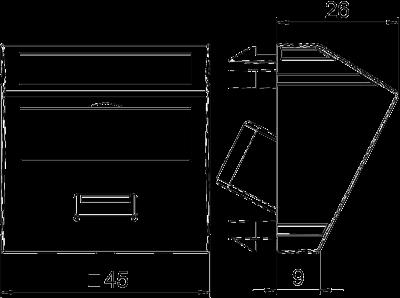 Схема Мультимедийная рамка с разъемом USB 2.0 / 3.0, ширина 1 модуль, с наклонным выводом, с соединительным кабелем — арт.: 6104934
