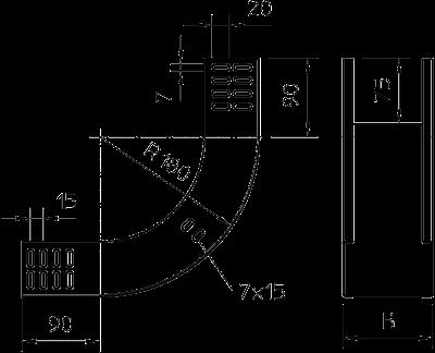 Схема Вертикальная угловая секция 90° восходящая — арт.: 7007105