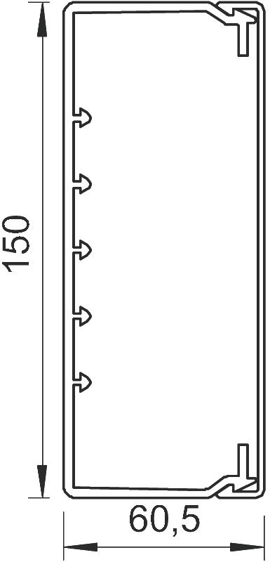 Схема Кабельный короб WDKH 60150 — арт.: 6175425