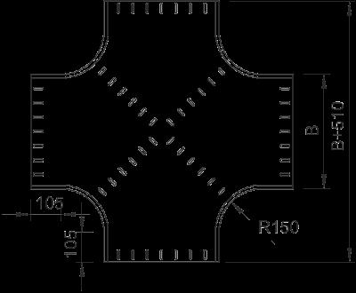 Схема Крестообразная секция 400-900 мм — арт.: 7113404