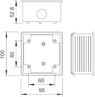 Схема Монтажная коробка для розетки CEE — арт.: 6024009
