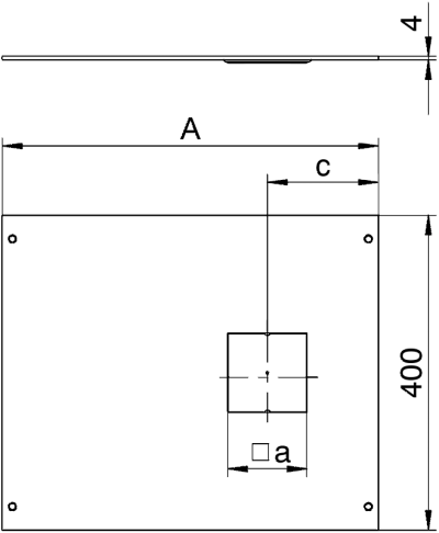 Схема Крышка с отверстием для напольного бокса Telitank, 400 мм — арт.: 7425046